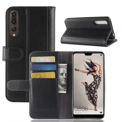 Huawei P20 Pro Suojakotelo Musta Nahka