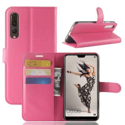 Huawei P20 Pro Suojakotelo Pinkki Lompakko