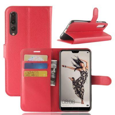 Huawei P20 Pro Suojakotelo Punainen Lompakko
