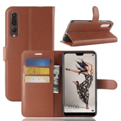 Huawei P20 Pro Suojakotelo Ruskea Lompakko