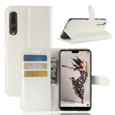 Huawei P20 Pro Suojakotelo Valkoinen Lompakko