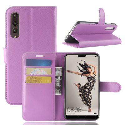 Huawei P20 Pro Suojakotelo Violetti Lompakko