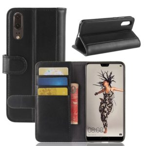 Huawei P20 Suojakotelo Musta Nahka