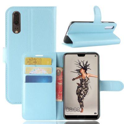 Huawei P20 Suojakotelo Vaaleansininen Lompakko