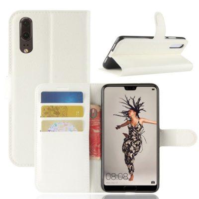 Huawei P20 Suojakotelo Valkoinen Lompakko