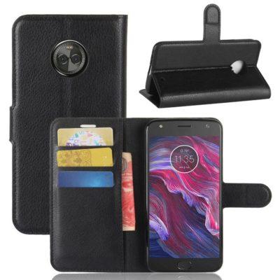 Motorola Moto X4 Lompakkokotelo Musta