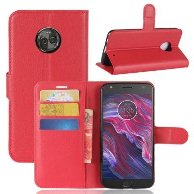 Motorola Moto X4 Lompakkokotelo Punainen