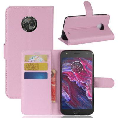Motorola Moto X4 Lompakkokotelo Vaaleanpunainen