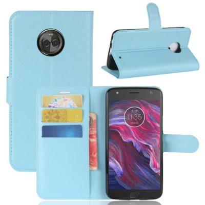 Motorola Moto X4 Lompakkokotelo Vaaleansininen