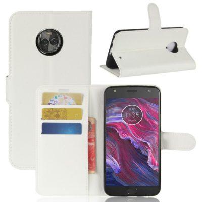 Motorola Moto X4 Lompakkokotelo Valkoinen