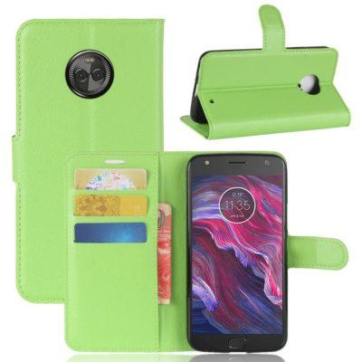 Motorola Moto X4 Lompakkokotelo Vihreä