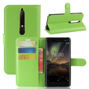 Nokia 6 (2018) Suojakotelo Vihreä Lompakko