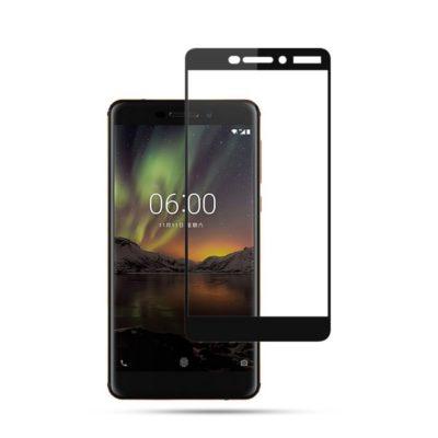 Nokia 6 (2018) Täysin Peittävä Suojalasi Mocolo Musta