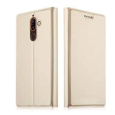 Nokia 7 Plus Kannellinen Suojakotelo Kulta
