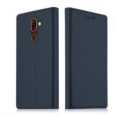 Nokia 7 Plus Kannellinen Suojakotelo Tummansininen