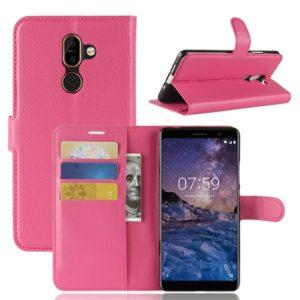 Nokia 7 Plus Suojakotelo PU-Nahka Pinkki