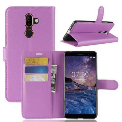 Nokia 7 Plus Suojakotelo PU-Nahka Violetti