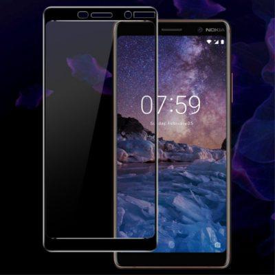 Nokia 7 Plus Täysin Peittävä Panssarilasi IMAK Musta