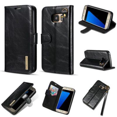 Samsung Galaxy S7 Nahkakotelo DG.MING Musta
