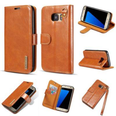 Samsung Galaxy S7 Nahkakotelo DG.MING Ruskea