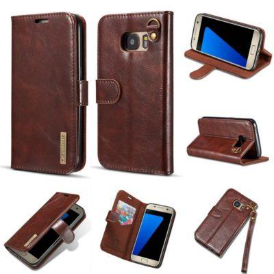 Samsung Galaxy S7 Nahkakotelo DG.MING Tummanruskea