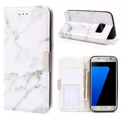 Samsung Galaxy S7 Suojakotelo Marmori Valkoinen