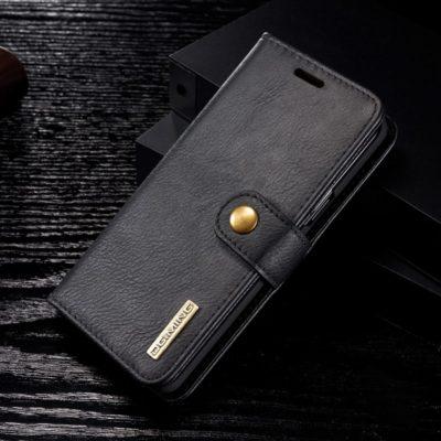 Samsung Galaxy S9 Nahkakotelo DG.MING Musta