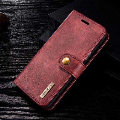 Samsung Galaxy S9 Nahkakotelo DG.MING Punainen
