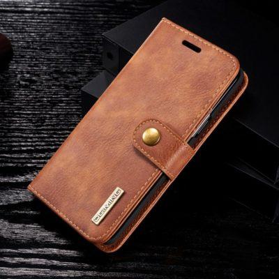 Samsung Galaxy S9 Nahkakotelo DG.MING Ruskea