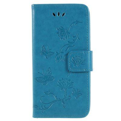 Sony Xperia XZ2 Compact Kotelo Kukka Sininen