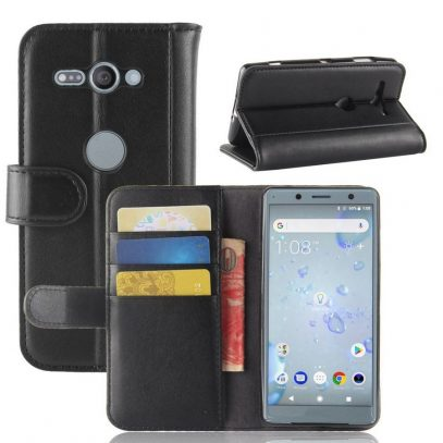 Sony Xperia XZ2 Compact Nahkakotelo Musta