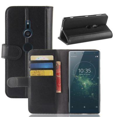Sony Xperia XZ2 Nahkakotelo Musta