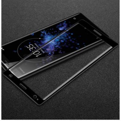 Sony Xperia XZ2 Täysin Peittävä Panssarilasi Musta