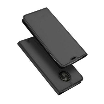 Motorola Moto G6 Plus Kotelo Dux Tummanharmaa