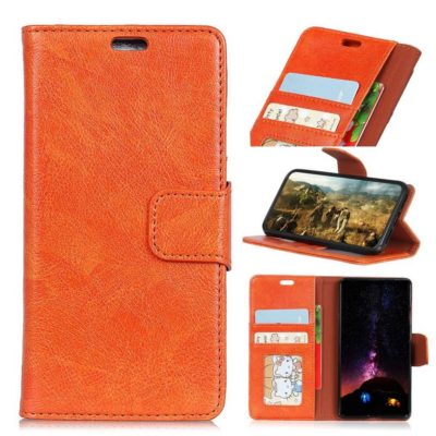 Motorola Moto G6 Plus Nahkakotelo Oranssi