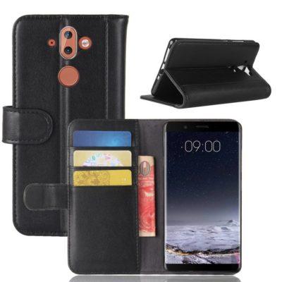 Nokia 8 Sirocco Lompakkokotelo Musta Nahka