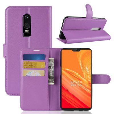 OnePlus 6 Lompakko Suojakotelo Violetti