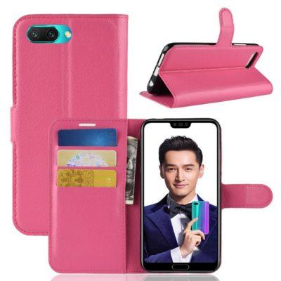 Huawei Honor 10 Suojakotelo PU-Nahka Pinkki