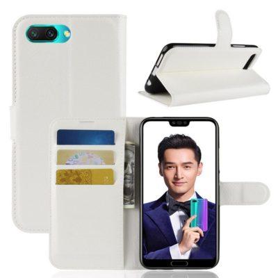 Huawei Honor 10 Suojakotelo PU-Nahka Valkoinen