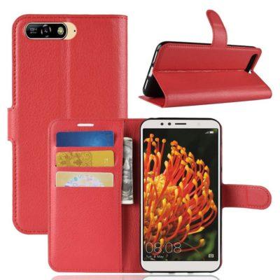 Huawei Y6 (2018) Lompakkokotelo Punainen