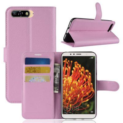 Huawei Y6 (2018) Lompakkokotelo Vaaleanpunainen