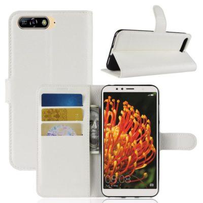 Huawei Y6 (2018) Lompakkokotelo Valkoinen