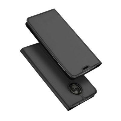 Motorola Moto E5 / G6 Play Kotelo Dux Tummanharmaa