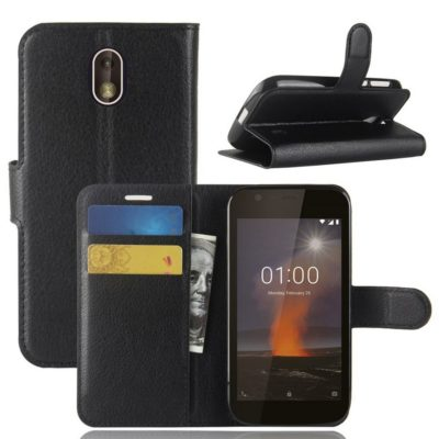 Nokia 1 Suojakotelo Musta Lompakko