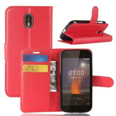 Nokia 1 Suojakotelo Punainen Lompakko