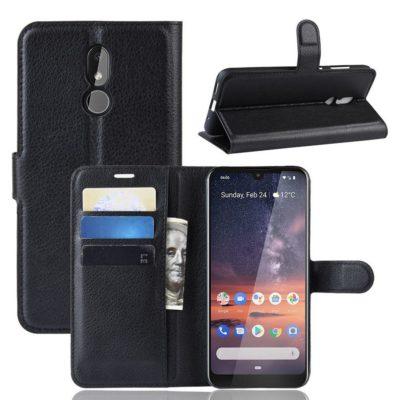 Nokia 3.2 Lompakkokotelo PU-Nahka Musta