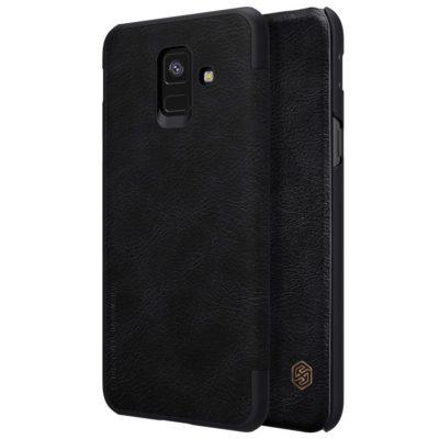 Samsung Galaxy A6 (2018) Kotelo Nillkin Qin Musta
