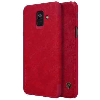 Samsung Galaxy A6 (2018) Kotelo Nillkin Qin Punainen