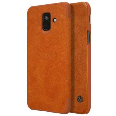 Samsung Galaxy A6 (2018) Kotelo Nillkin Qin Ruskea