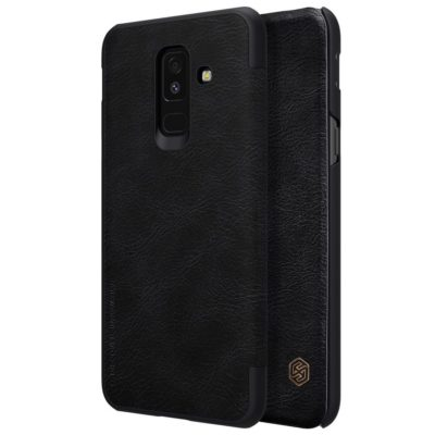 Samsung Galaxy A6+ (2018) Kotelo Nillkin Qin Musta